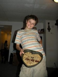 Benjamin with Heart Cookie